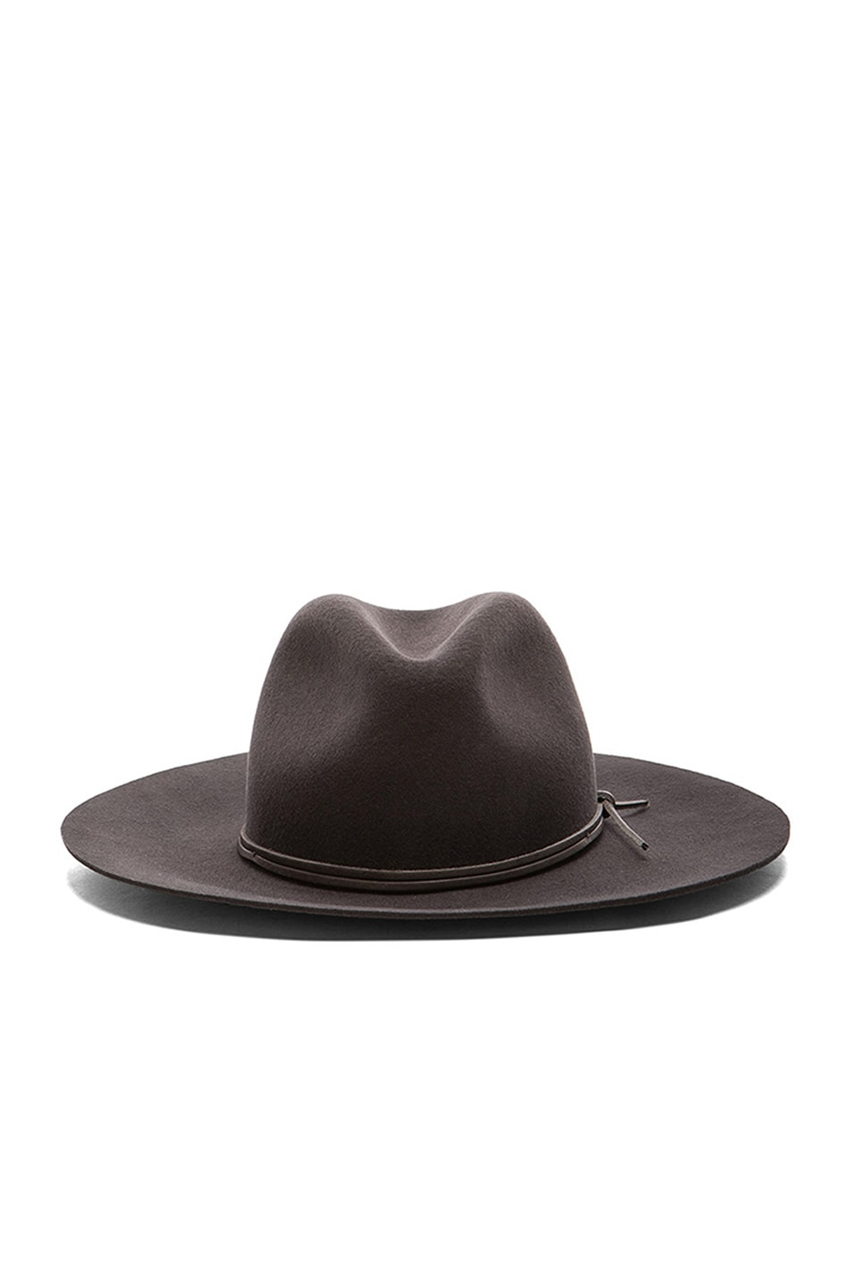 Image 1 of Rag   Bone Wide Brim Fedora in Graphite 53d78ef664a