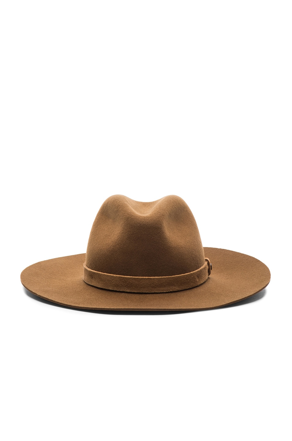 Image 1 of Rag & Bone Wide Brim Fedora in Ermine