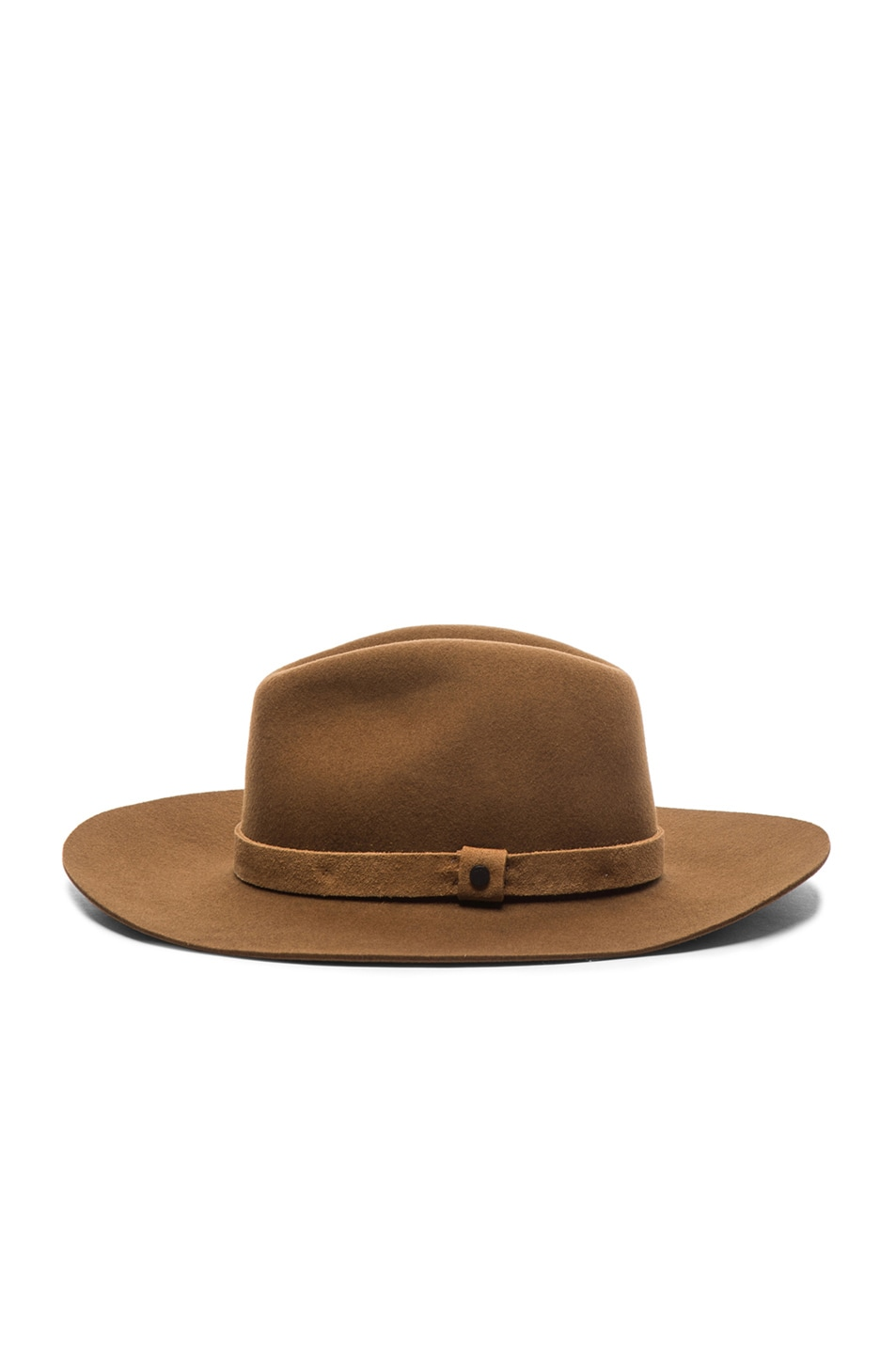 Image 3 of Rag & Bone Wide Brim Fedora in Ermine