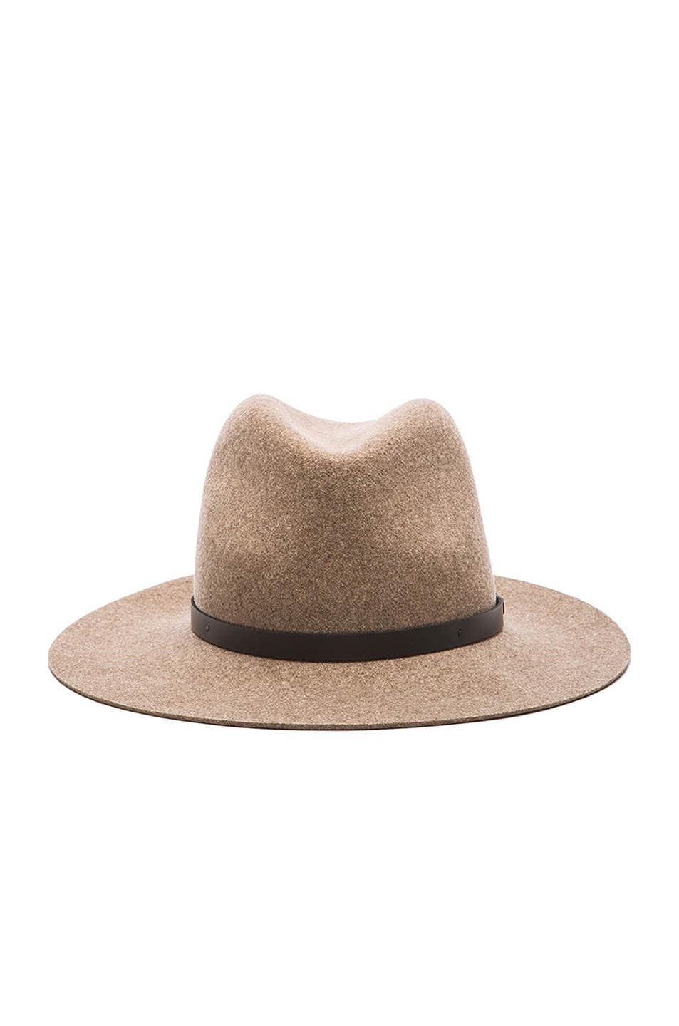 Image 1 of Rag & Bone Floppy Brim Fedora Hat in Brown Multi