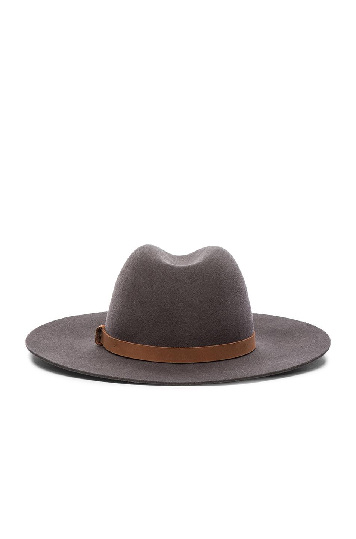 Image 4 of Rag   Bone Wide Brim Fedora Hat in Grey Multi 0bc5a2011a9