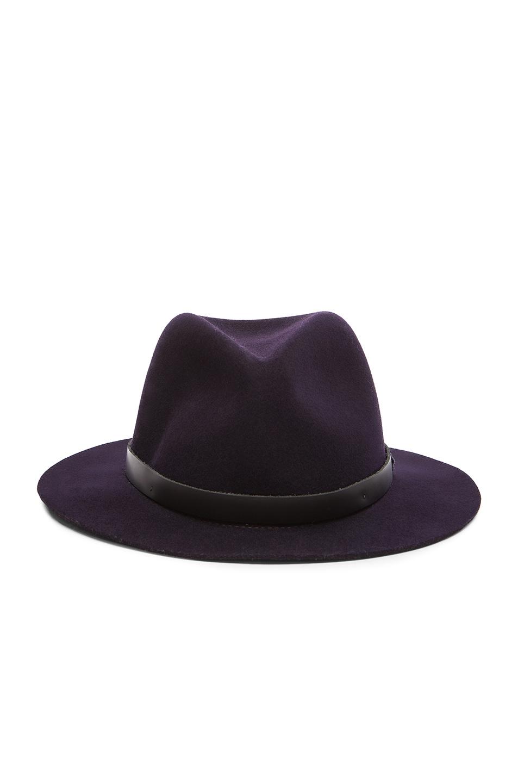 Image 1 of Rag & Bone Abbott Fedora Hat in Indigo