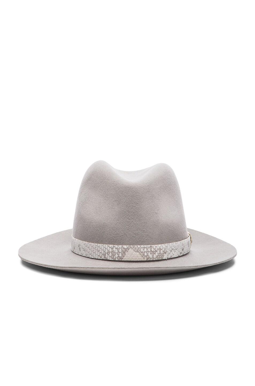 Image 1 of Rag & Bone Floppy Brim Fedora Hat in Grey