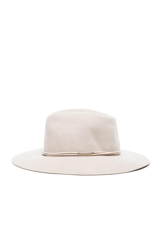 Image 3 of Rag & Bone Range Fedora Hat in Beige