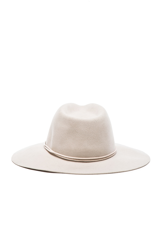 Image 4 of Rag & Bone Range Fedora Hat in Beige
