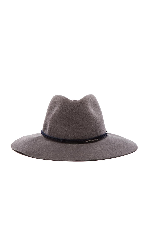 Image 1 of Rag & Bone Range Fedora Hat in Grey