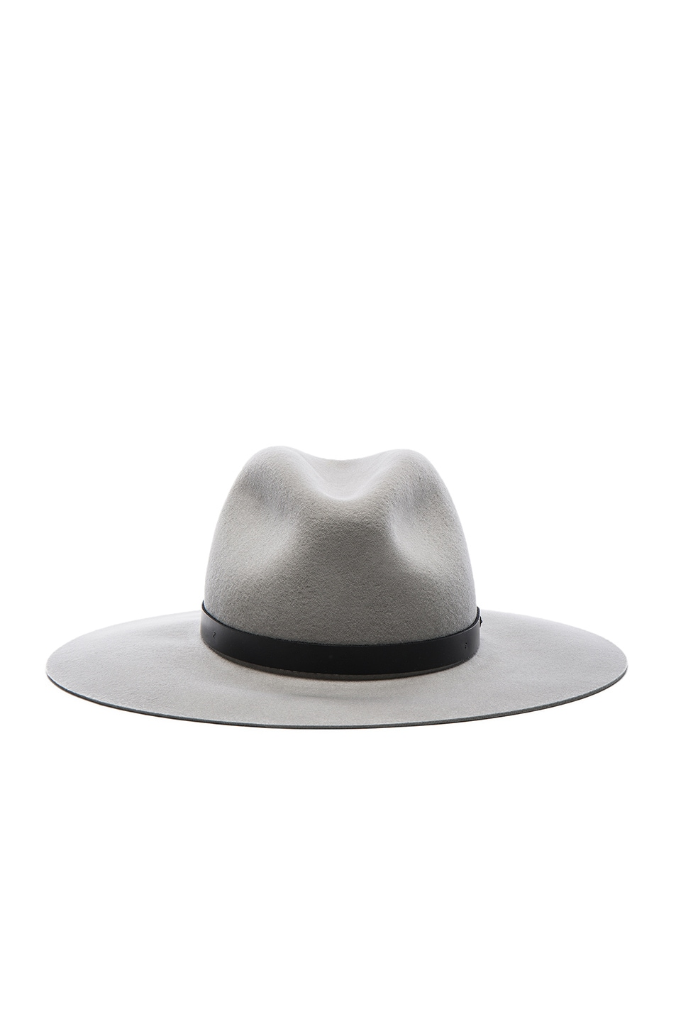 Image 1 of Rag & Bone Wide Brim Fedora Hat in Light Grey