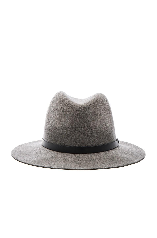 Image 1 of Rag & Bone Floppy Brim Fedora Hat in Oxford Grey