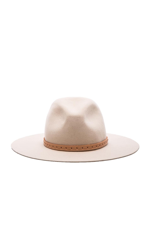 33a237985bf Image 1 of Rag   Bone Wide Brim Fedora Hat in Tan