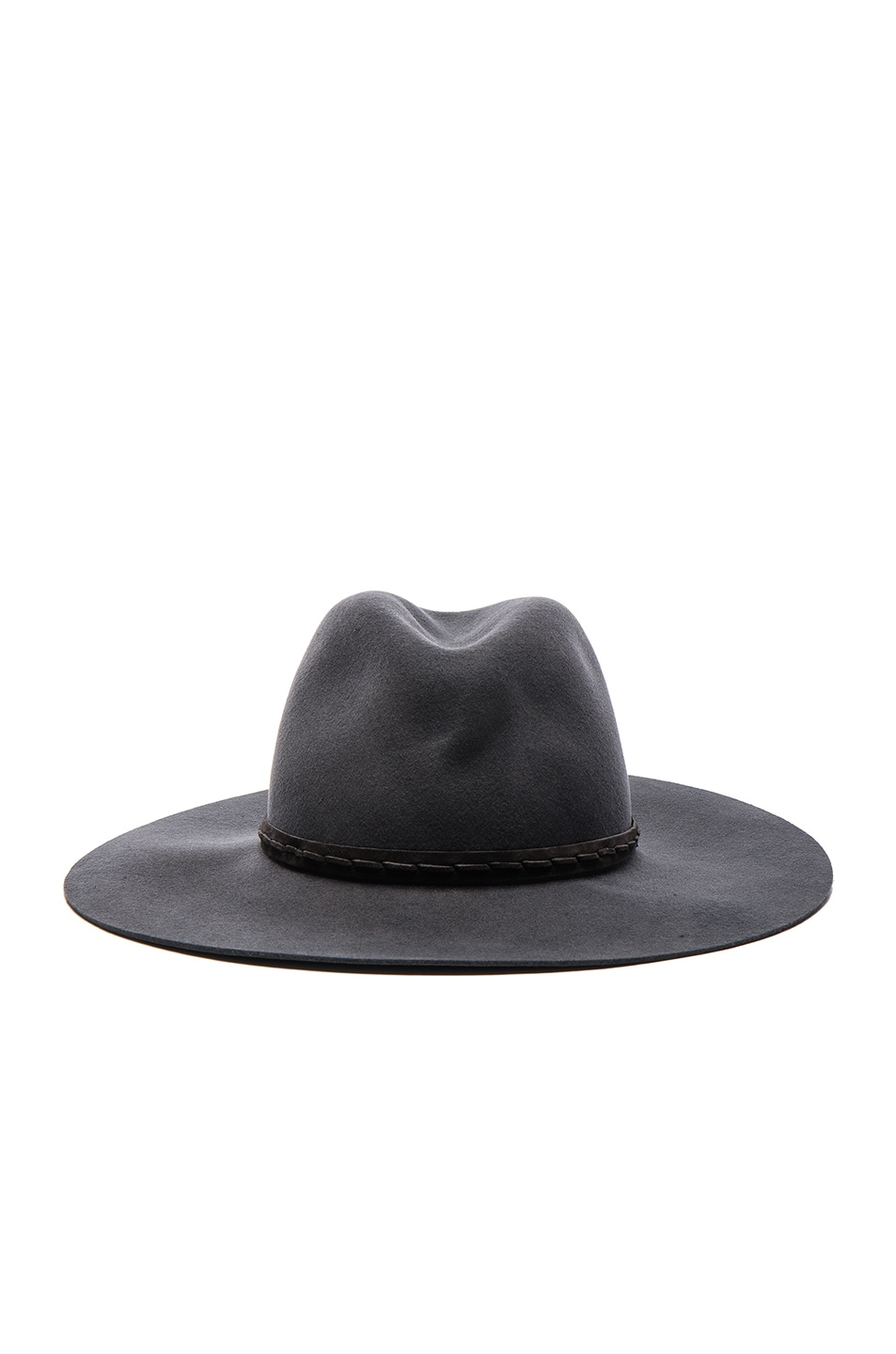 Image 1 of Rag & Bone Wide Brim Fedora in Grey