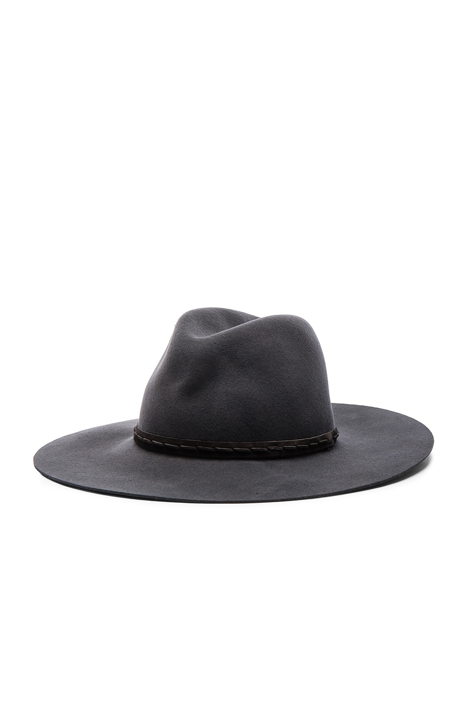 Image 2 of Rag & Bone Wide Brim Fedora in Grey