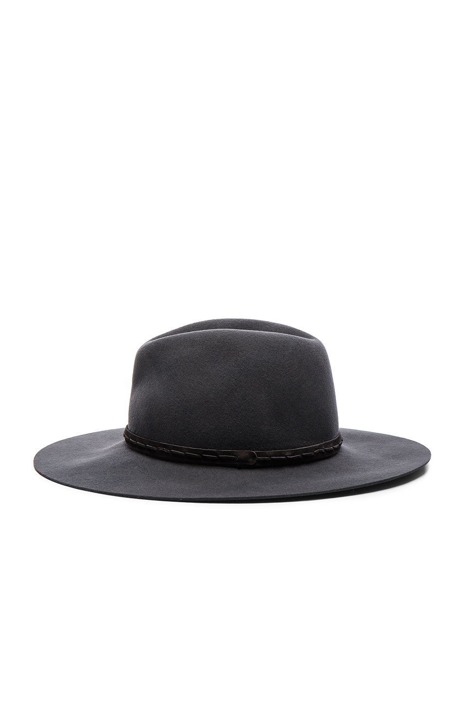 Image 3 of Rag & Bone Wide Brim Fedora in Grey