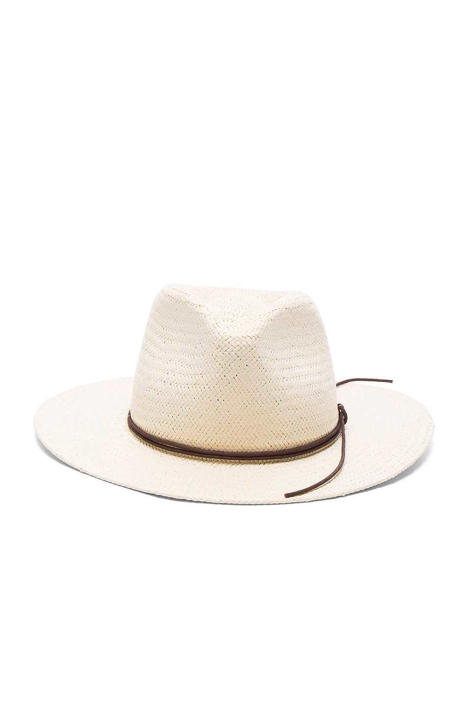Image 1 of Rag & Bone Packable Straw Fedora in Natural