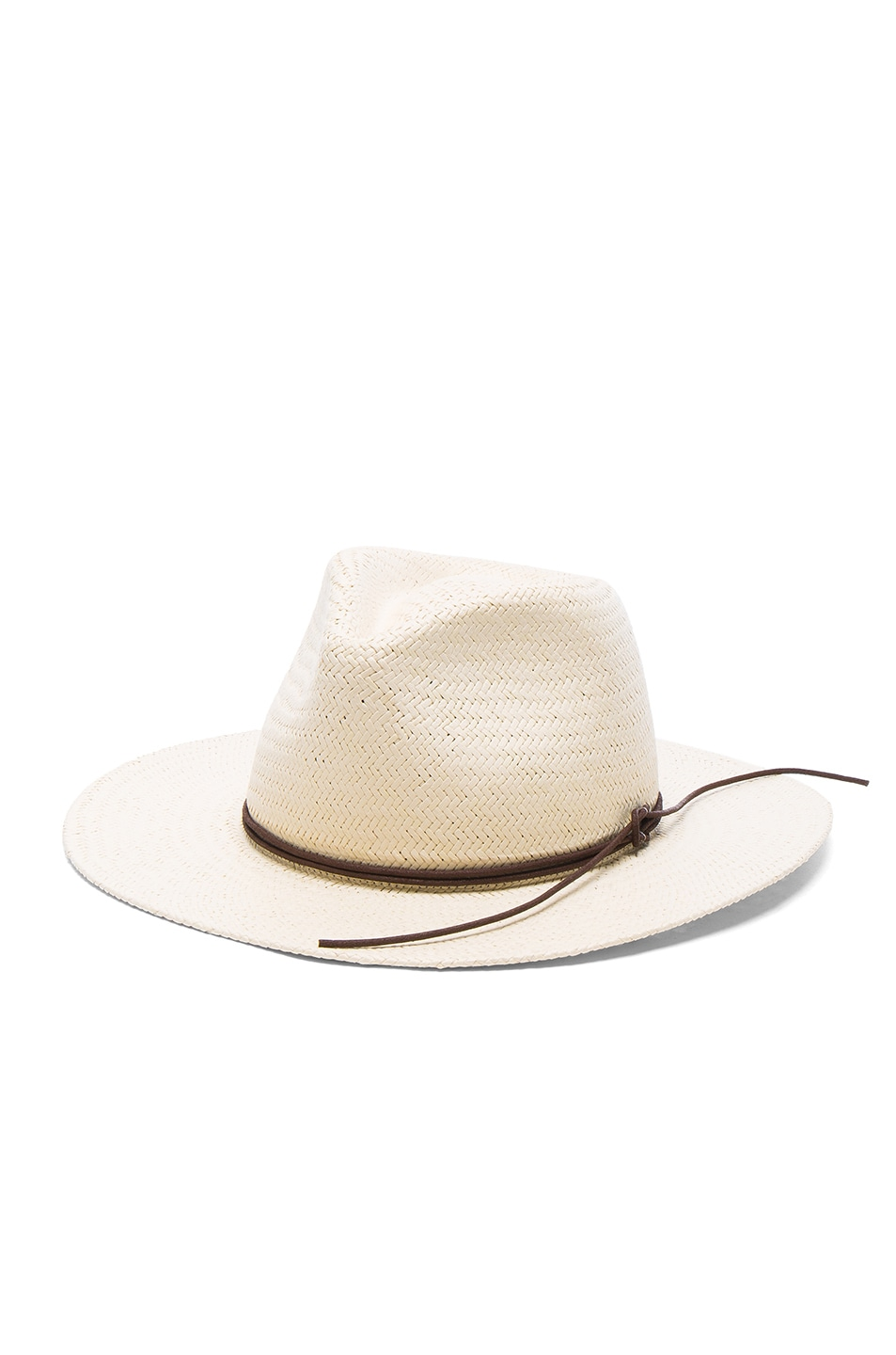 Image 2 of Rag & Bone Packable Straw Fedora in Natural
