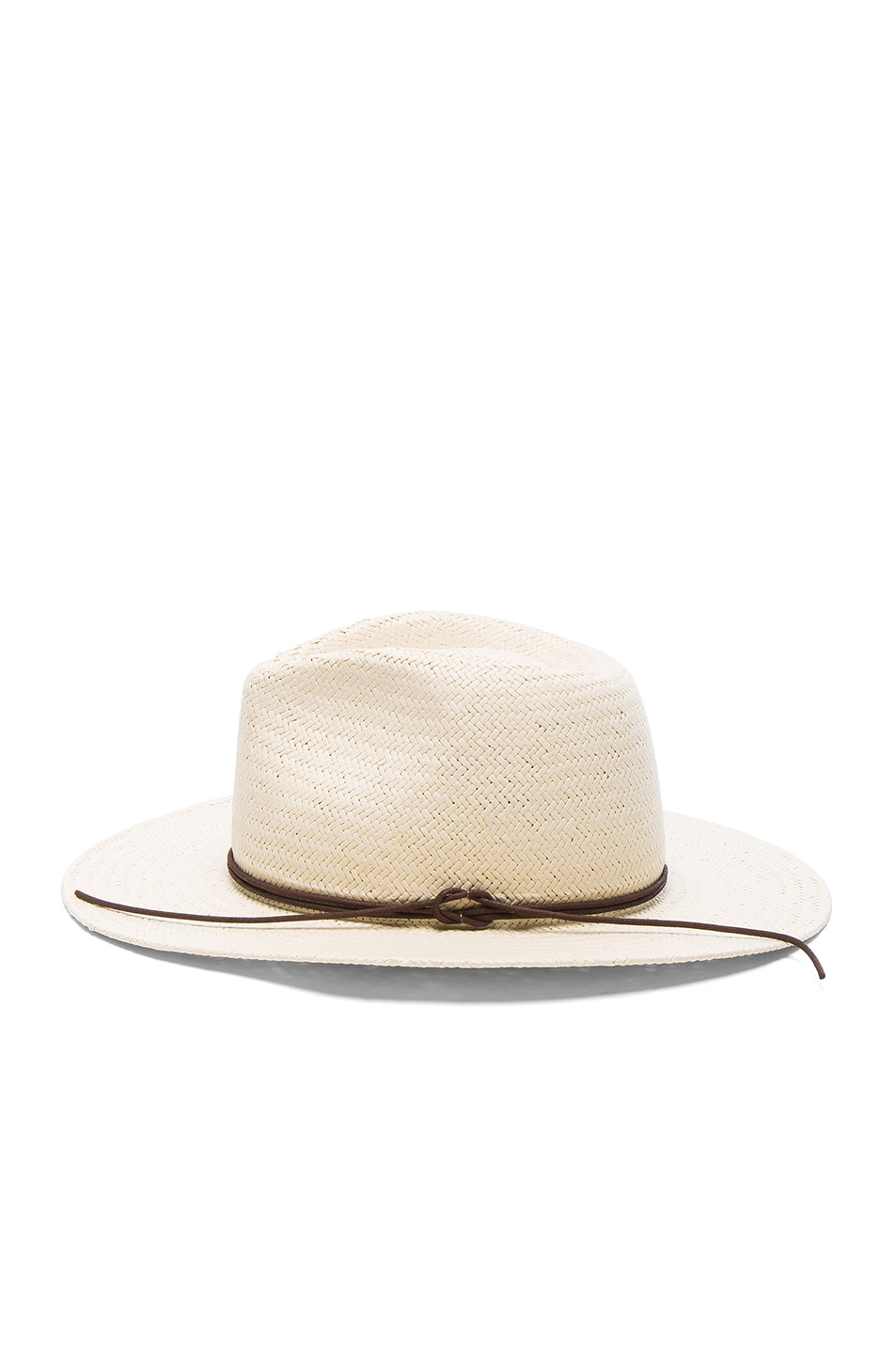 Image 3 of Rag & Bone Packable Straw Fedora in Natural