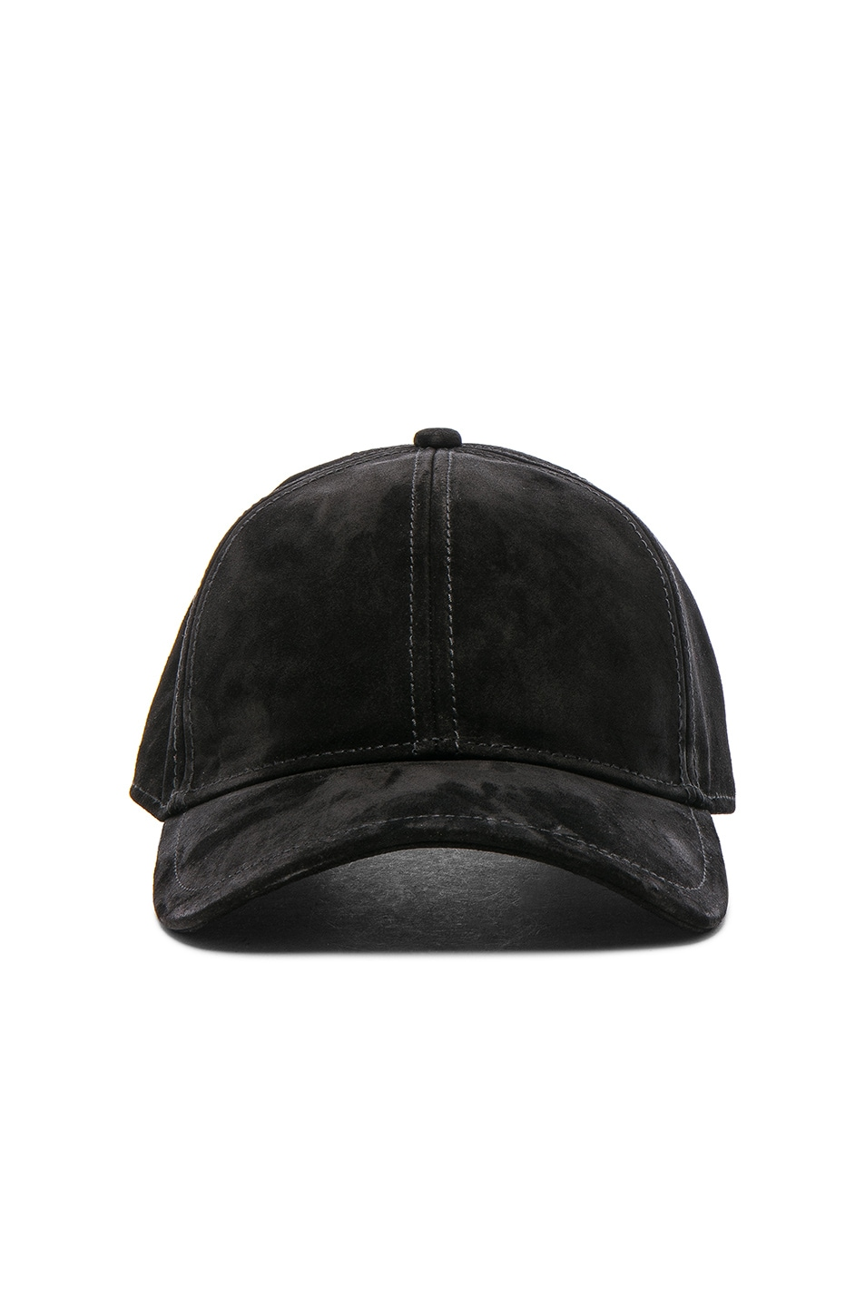 Image 1 of Rag & Bone Marilyn Baseball Cap in Black Suede