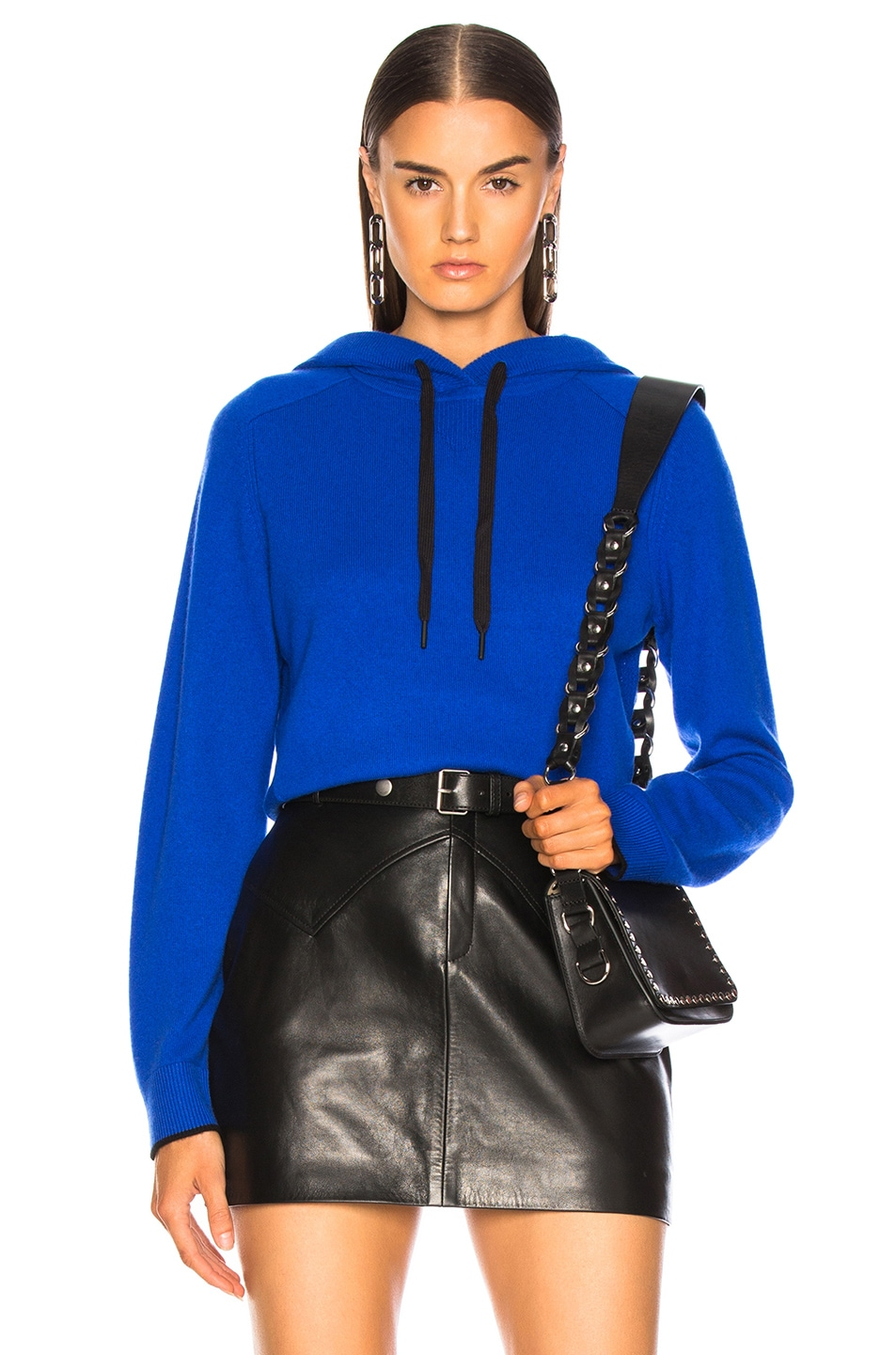 Image 1 of Rag & Bone Yorke Cashmere Hoodie in Bright Blue