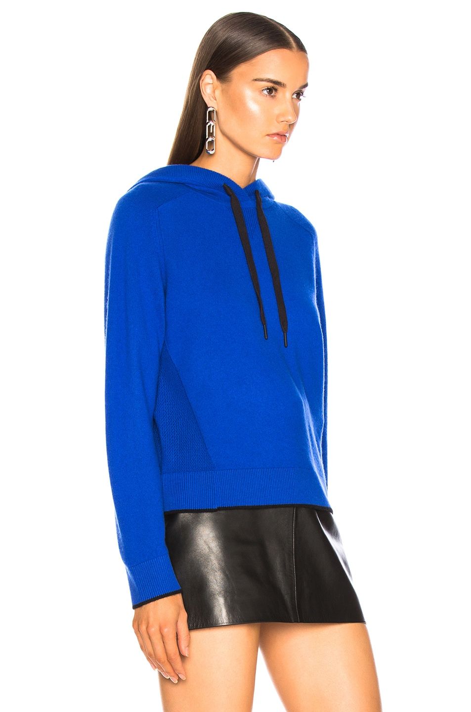 Image 3 of Rag & Bone Yorke Cashmere Hoodie in Bright Blue