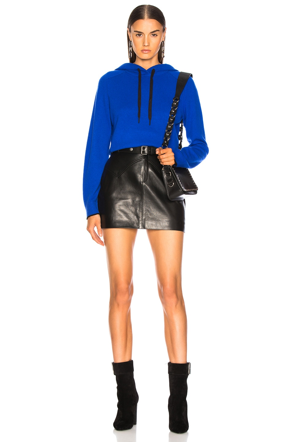 Image 5 of Rag & Bone Yorke Cashmere Hoodie in Bright Blue