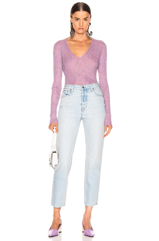 Image 4 of Rag & Bone Donna V-Neck in Lilac