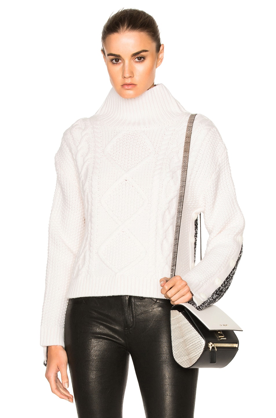 Image 1 of Rag & Bone Ida Turtleneck Sweater in Ivory