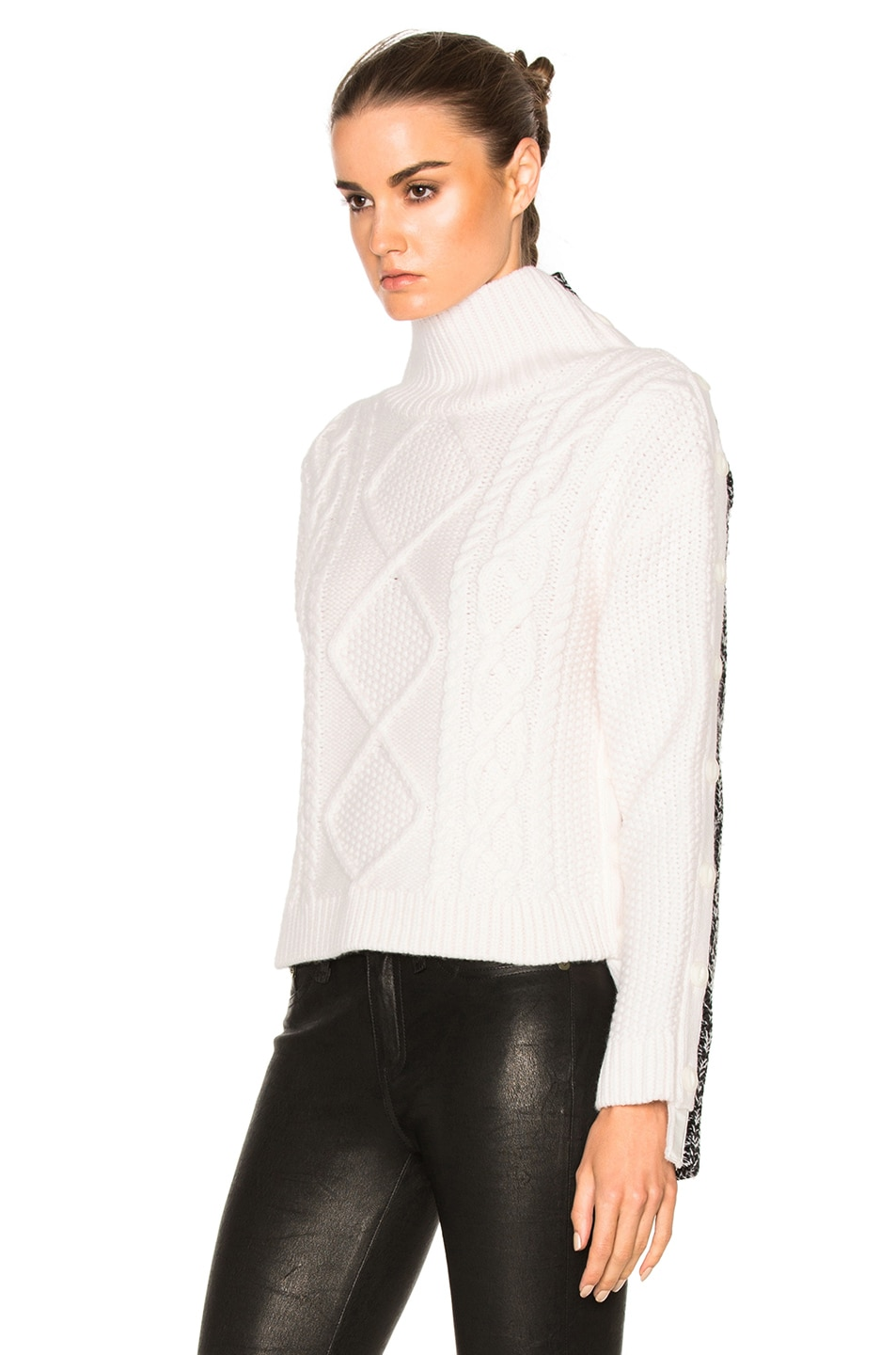 Image 2 of Rag & Bone Ida Turtleneck Sweater in Ivory