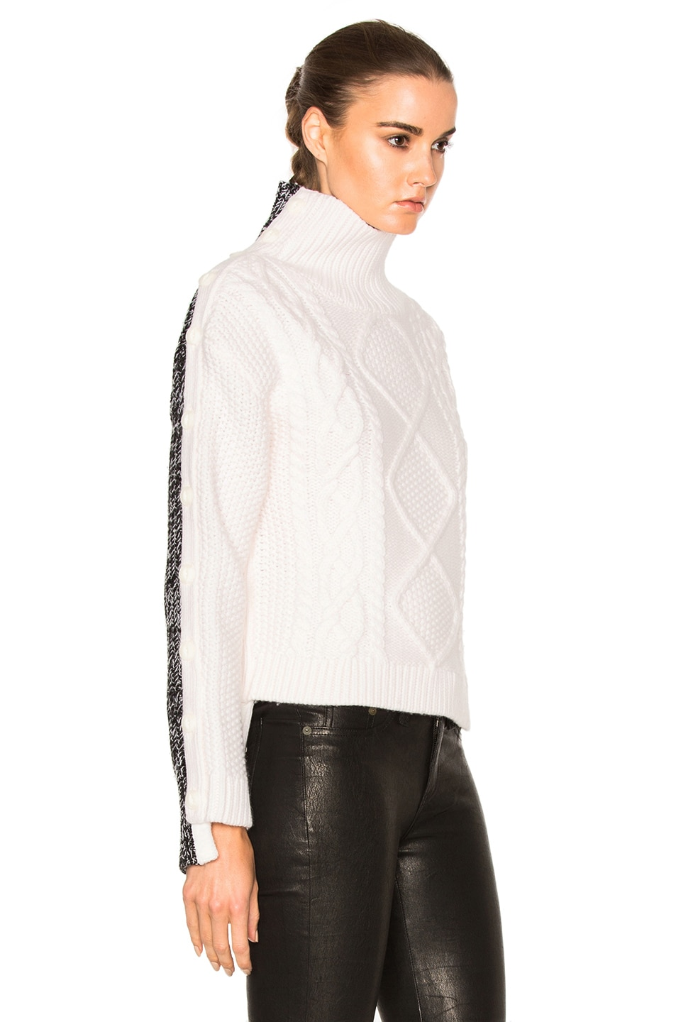 Image 3 of Rag & Bone Ida Turtleneck Sweater in Ivory