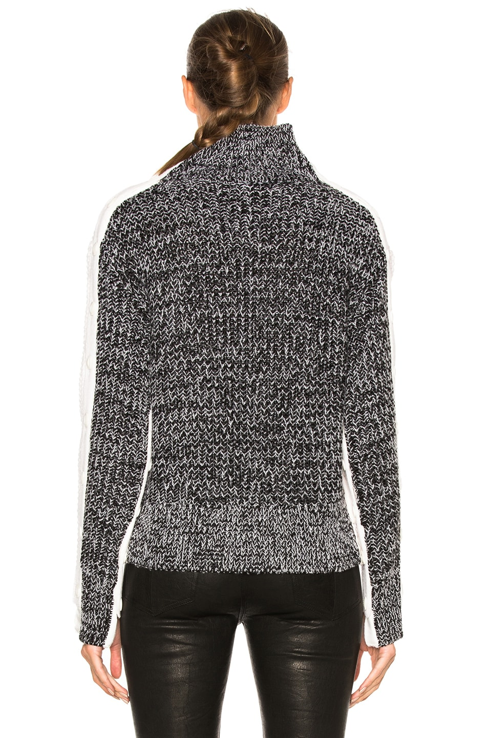 Image 4 of Rag & Bone Ida Turtleneck Sweater in Ivory