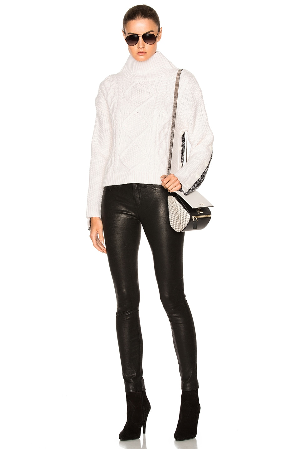 Image 5 of Rag & Bone Ida Turtleneck Sweater in Ivory