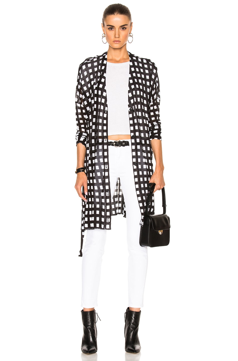Image 1 of Rag & Bone Michaela Cardigan in Black & White
