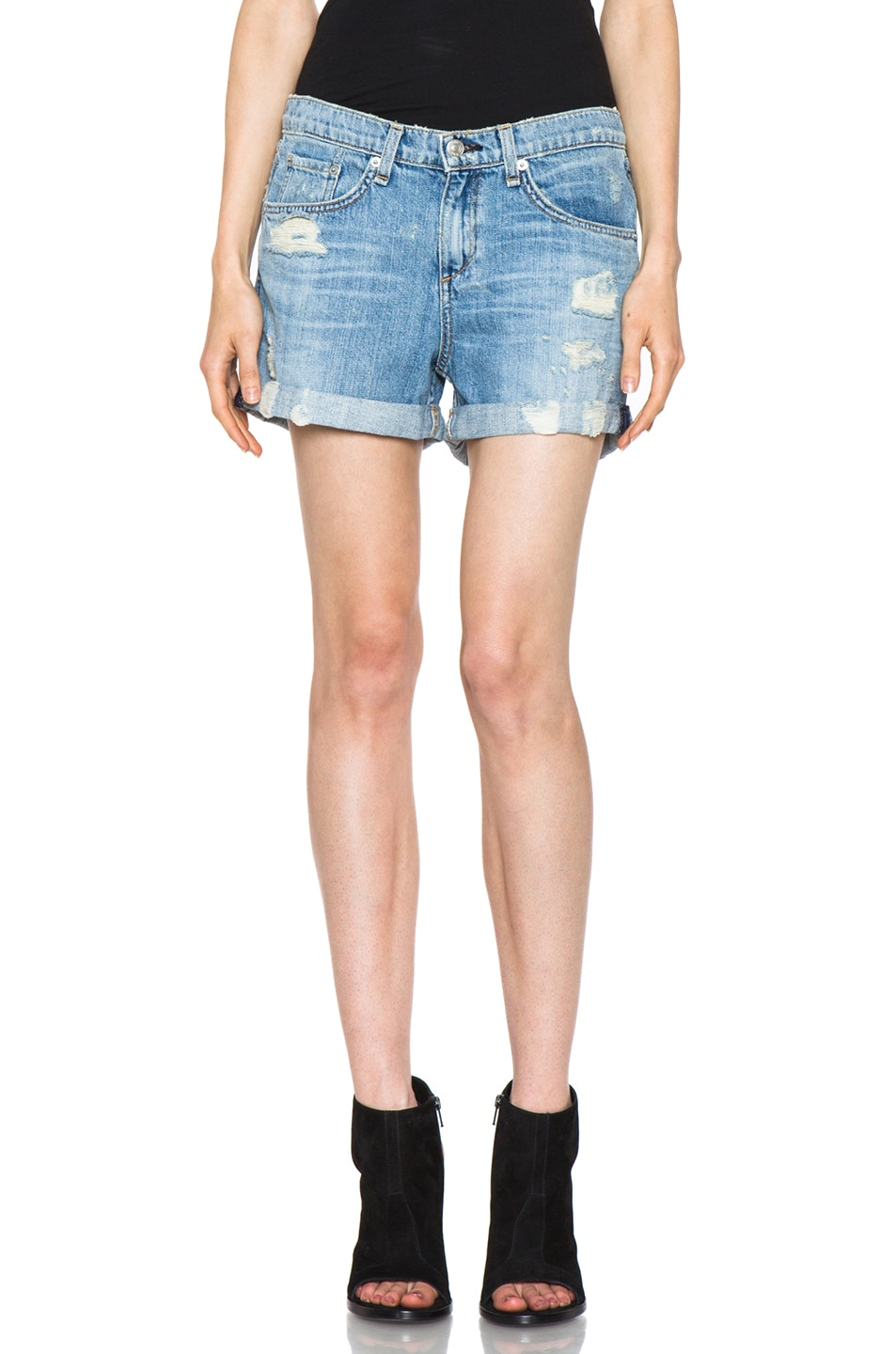 Image 1 of Rag & Bone JEAN Boyfriend Short in Tattered