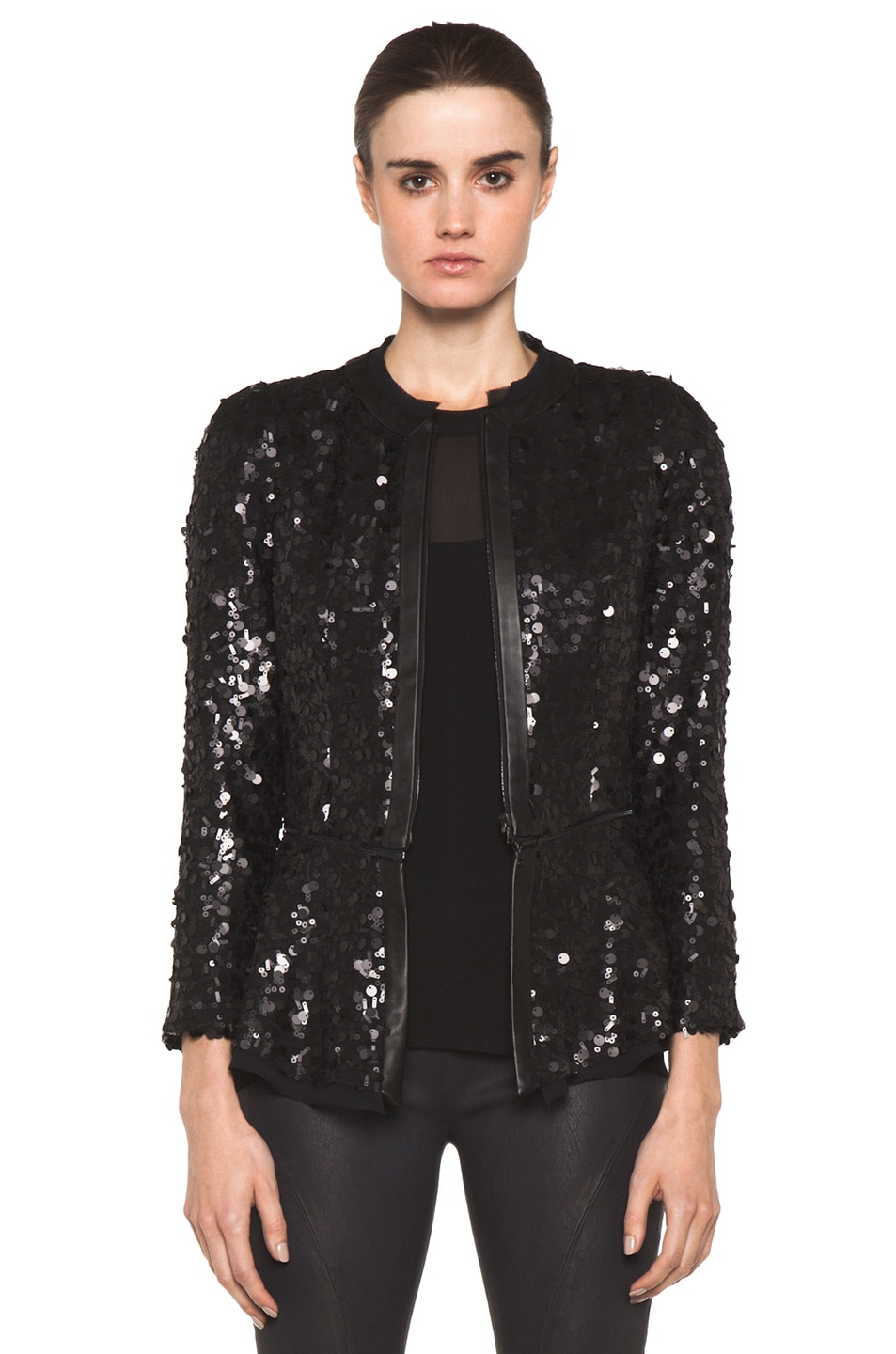 Image 1 of Rag & Bone Faren Jacket in Black