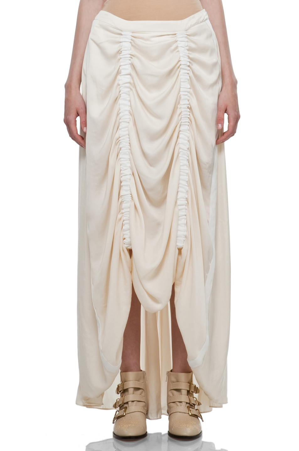 Image 1 of Rag & Bone Parachute Skirt in Ivory
