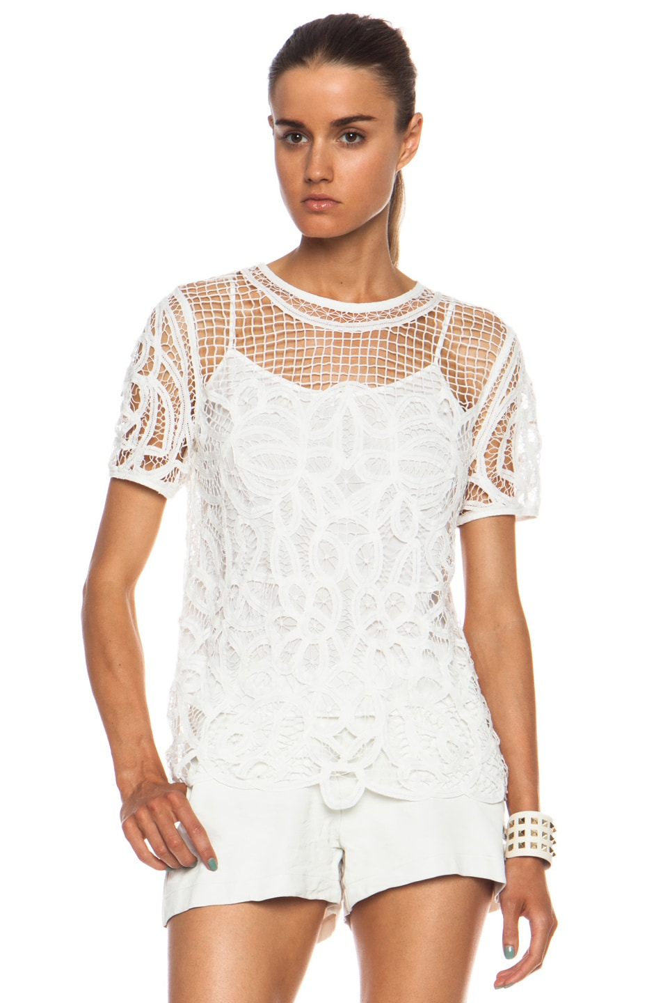 Image 1 of Rag & Bone Nancy Cotton Blouse in White