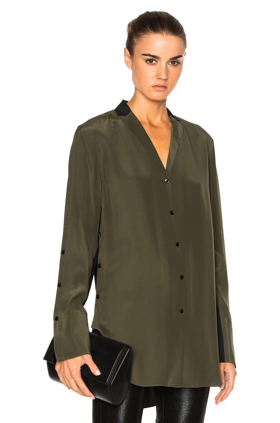 Image 1 of Rag & Bone Leighton Top in Army Green