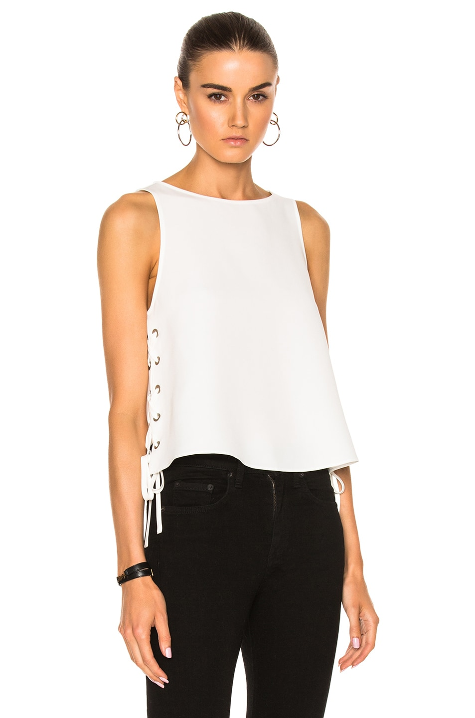 Image 1 of Rag & Bone Eliza Top in Chalk