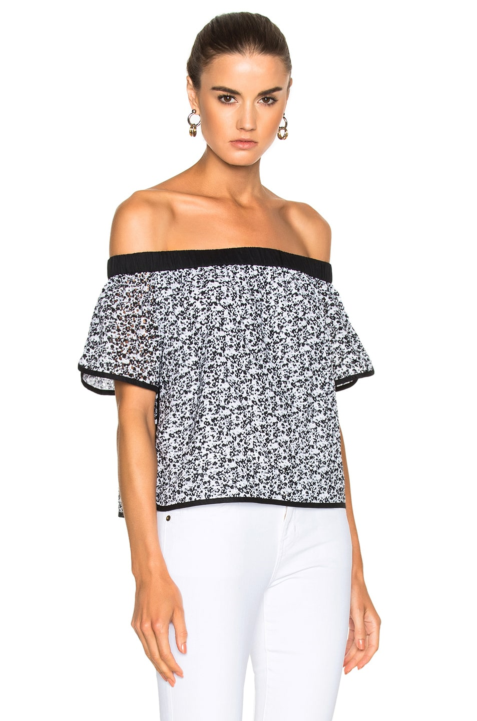 Image 1 of Rag & Bone Flavia Top in Black Floral