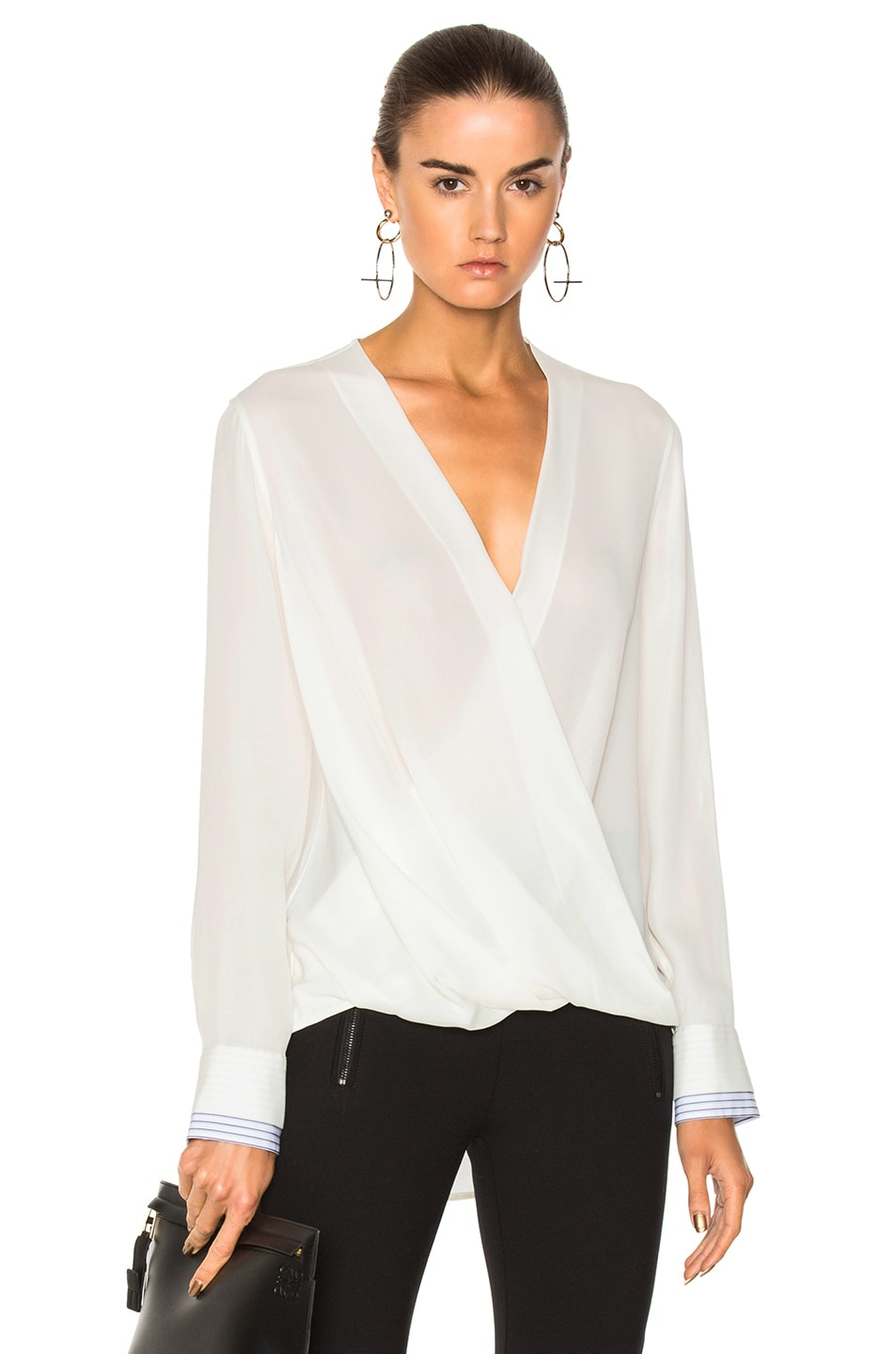 191a9c0e7280d Image 1 of Rag   Bone Victor Blouse in Blanc