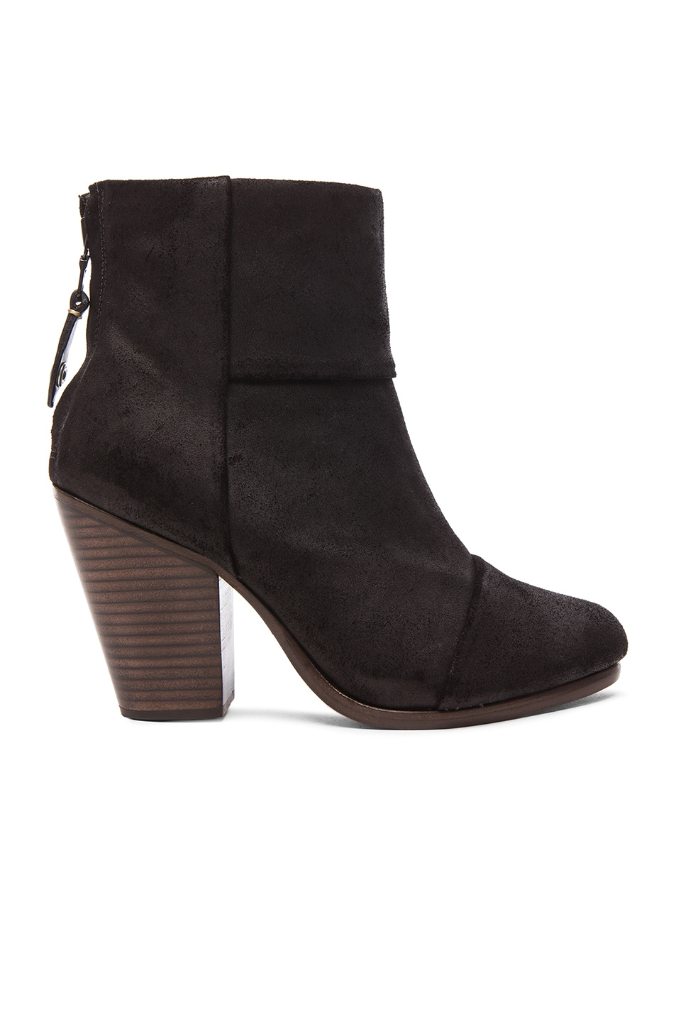 Image 1 of Rag & Bone Newbury Suede Boots in Black Waxy