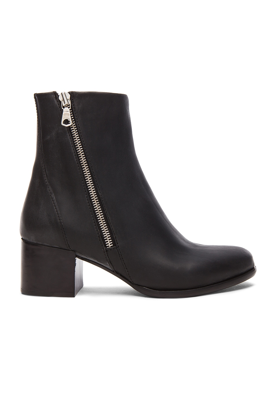 Image 1 of Rag & Bone Avery Leather Low Booties in Black