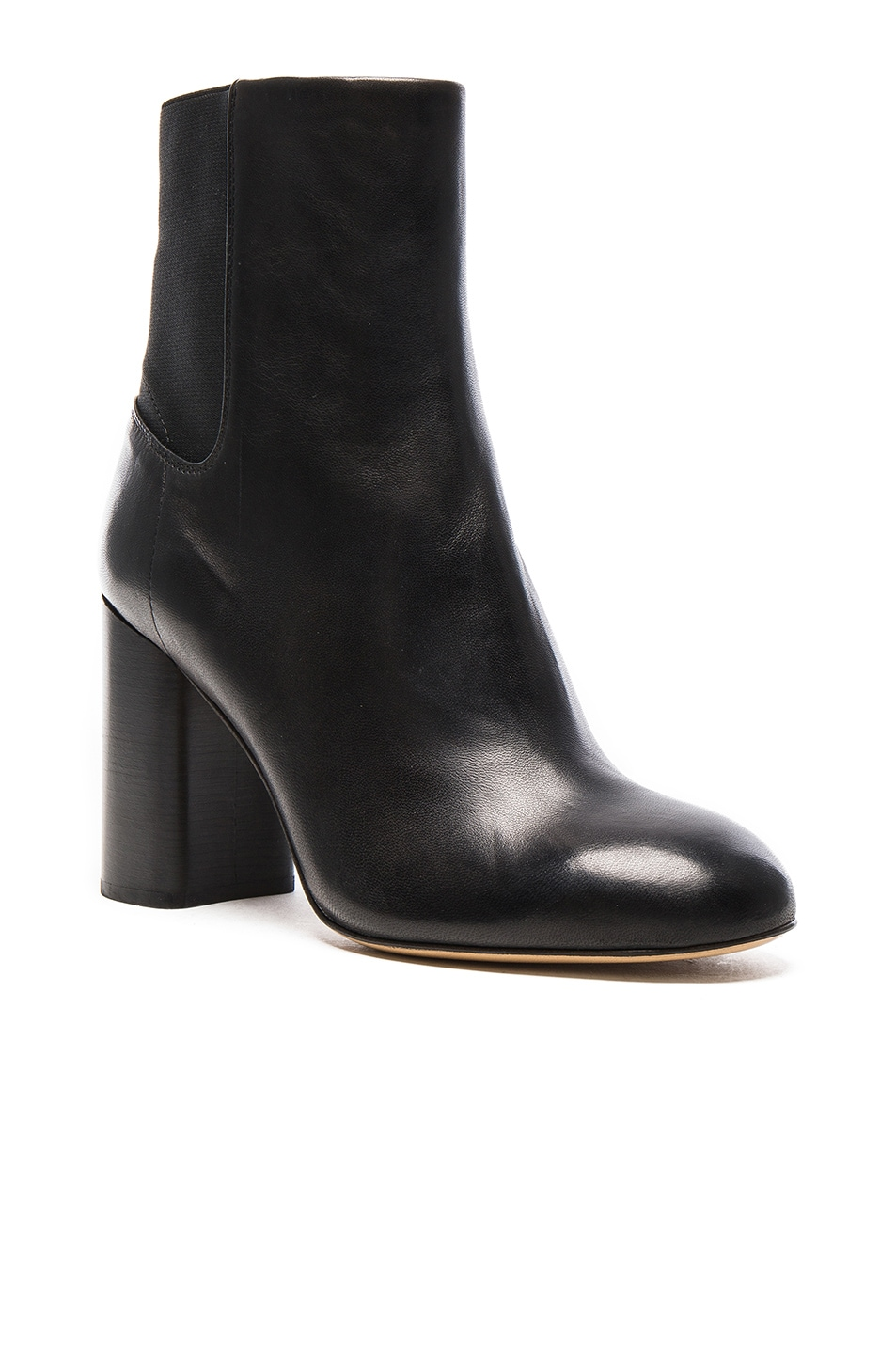 Image 2 of Rag & Bone Leather Agnes Booties in Black