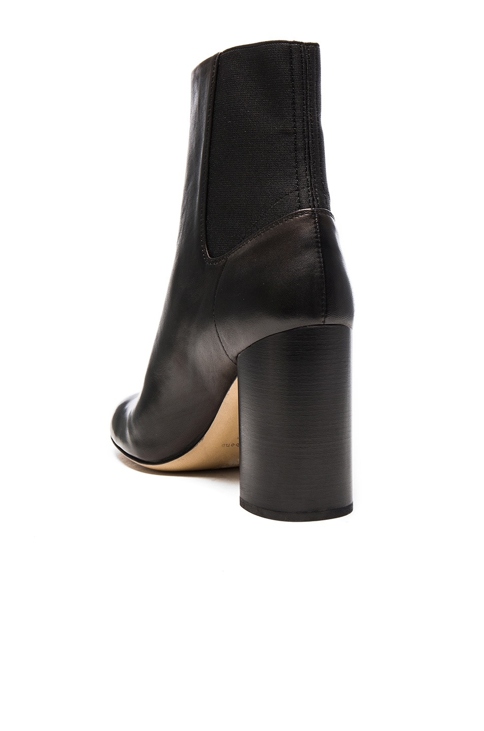 Image 3 of Rag & Bone Leather Agnes Booties in Black