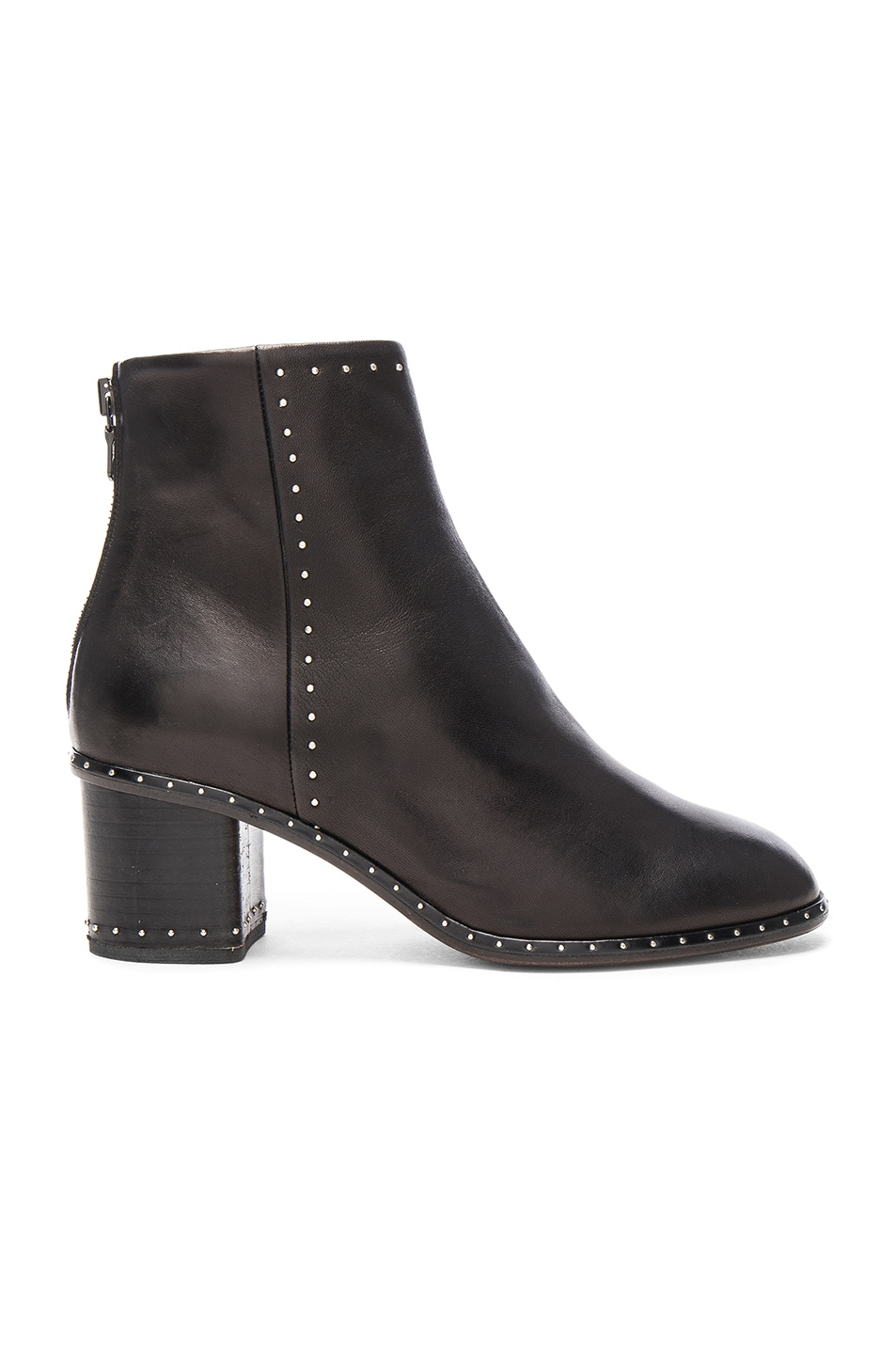 Image 1 of Rag & Bone Leather Willow Stud Boots in Black