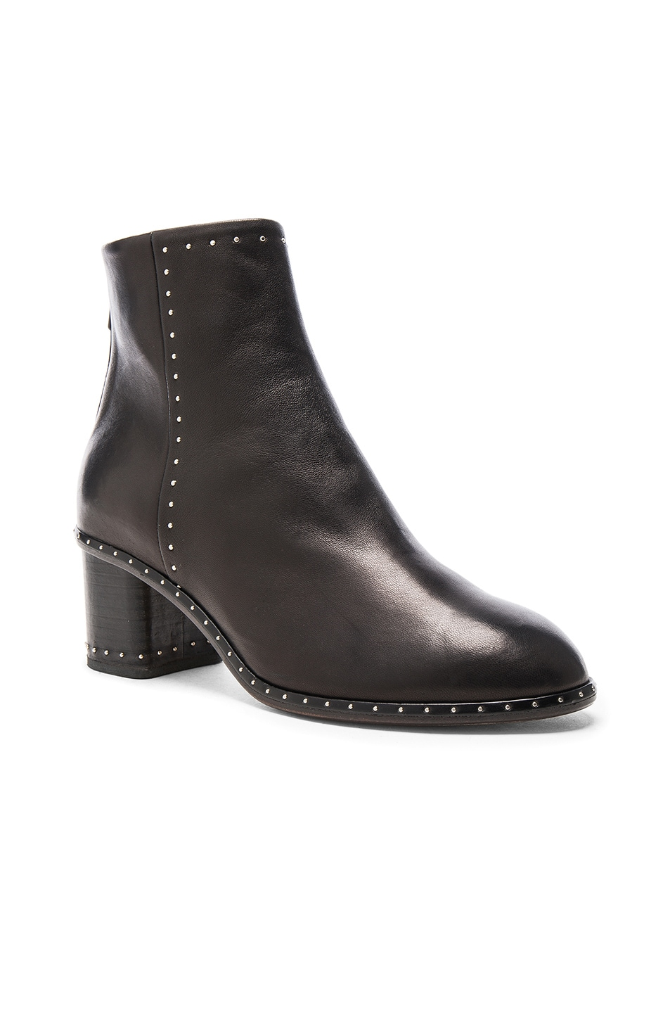 Image 2 of Rag & Bone Leather Willow Stud Boots in Black