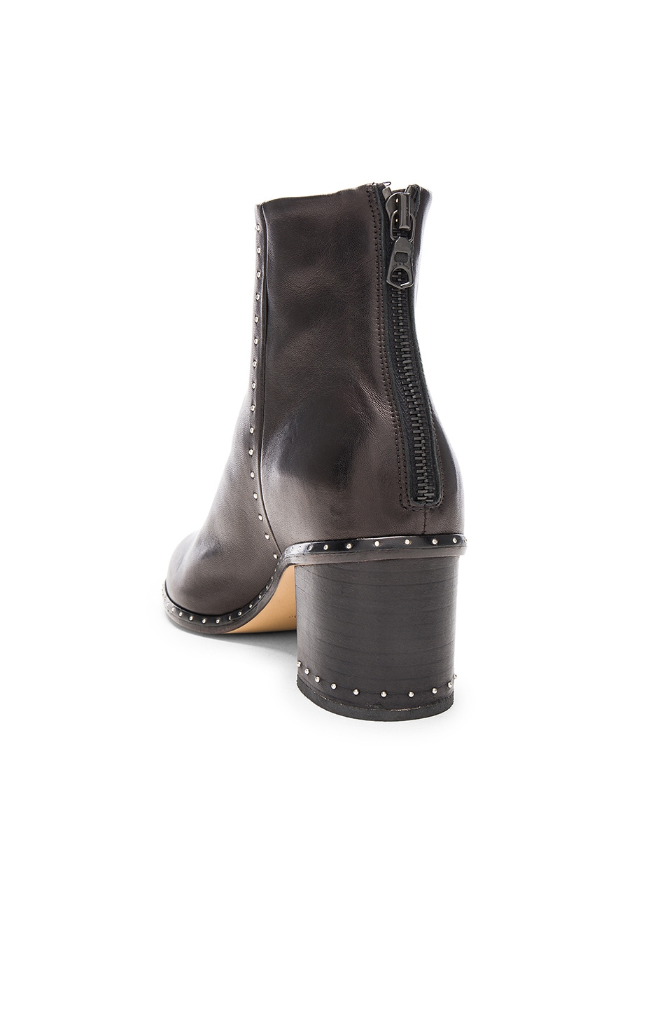 Image 3 of Rag & Bone Leather Willow Stud Boots in Black