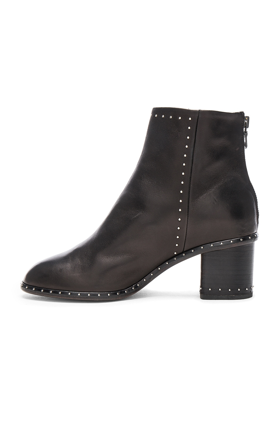 Image 5 of Rag & Bone Leather Willow Stud Boots in Black