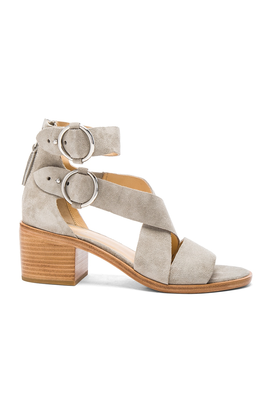 Image 1 of Rag & Bone Suede Mari Sandals in Cement Suede