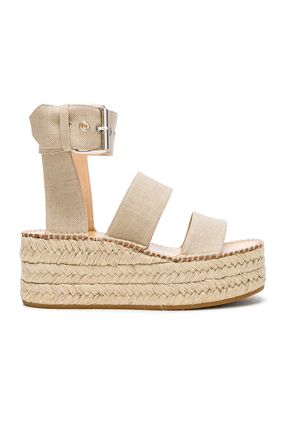 Image 1 of Rag & Bone Canvas Tara Sandals in Natural Canvas