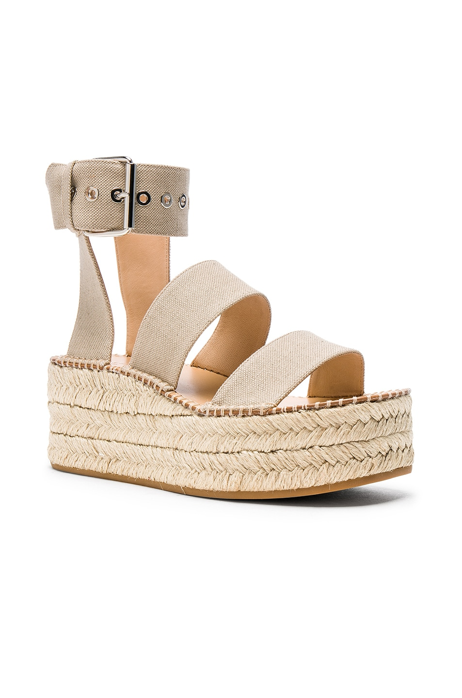 Image 2 of Rag & Bone Canvas Tara Sandals in Natural Canvas
