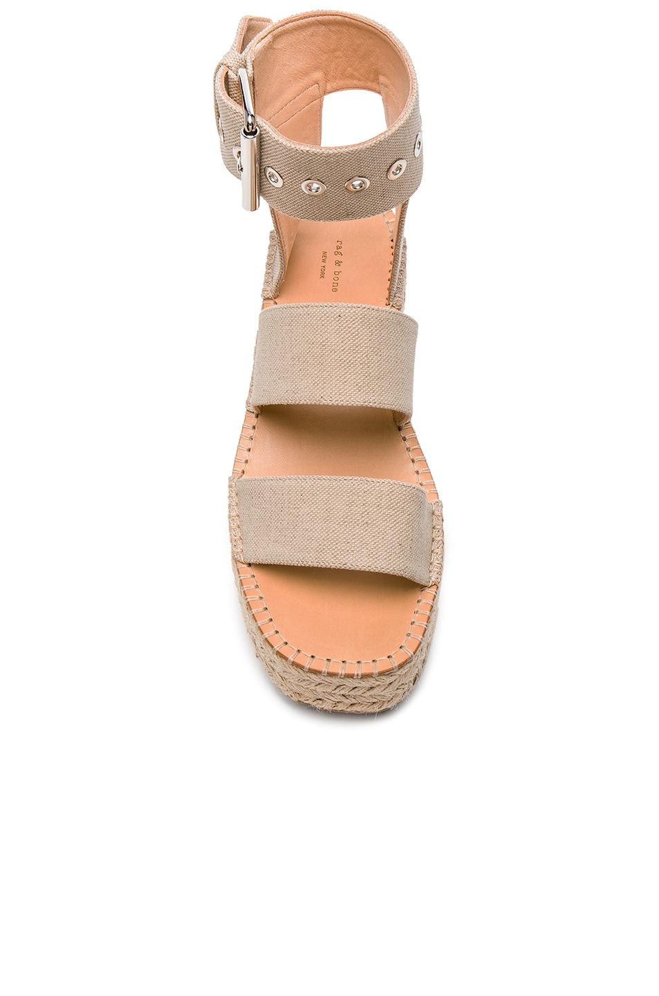 Image 4 of Rag & Bone Canvas Tara Sandals in Natural Canvas